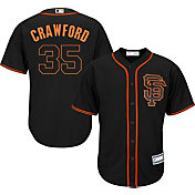 Youth Replica San Francisco Giants Brandon Crawford #35 Alternate Black Jersey