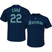 Majestic Youth Seattle Mariners Robinson Cano #22 Navy T-Shirt