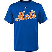 Majestic Youth New York Mets Wordmark Royal T-Shirt