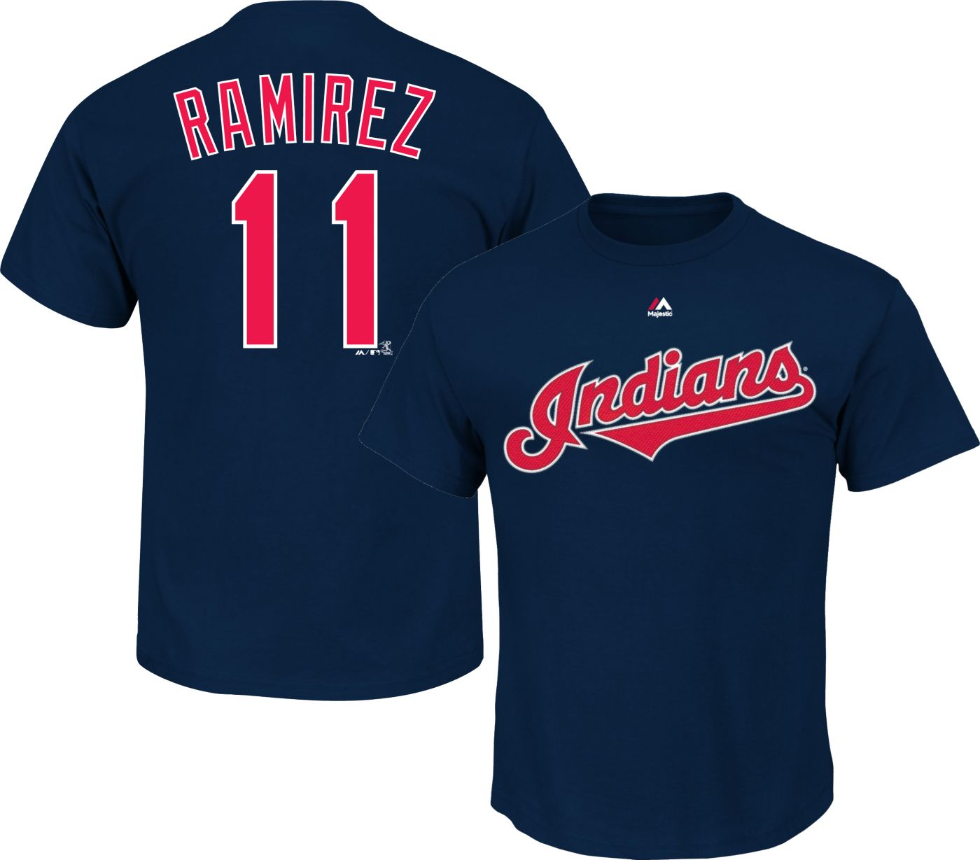 Majestic Youth Cleveland Indians Jose Ramirez #11 Navy T-Shirt