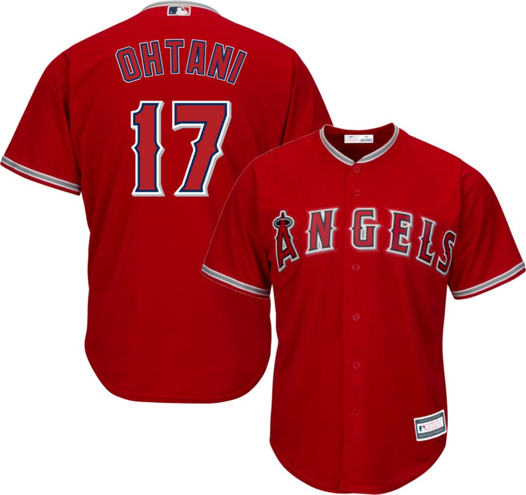 official photos 3ac44 4f49a Youth Replica Los Angeles Angels Shohei Ohtani #17 Alternate Red Jersey