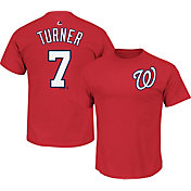 Majestic Youth Washington Nationals Trea Turner #7 Red T-Shirt