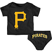 Majestic Infant Pittsburgh Pirates 2-Piece Mini Uniform Set