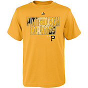 Majestic Youth Pittsburgh Pirates Spark Gold T-Shirt