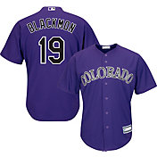Youth Replica Colorado Rockies Charlie Blackmon #19 Alternate Purple Jersey