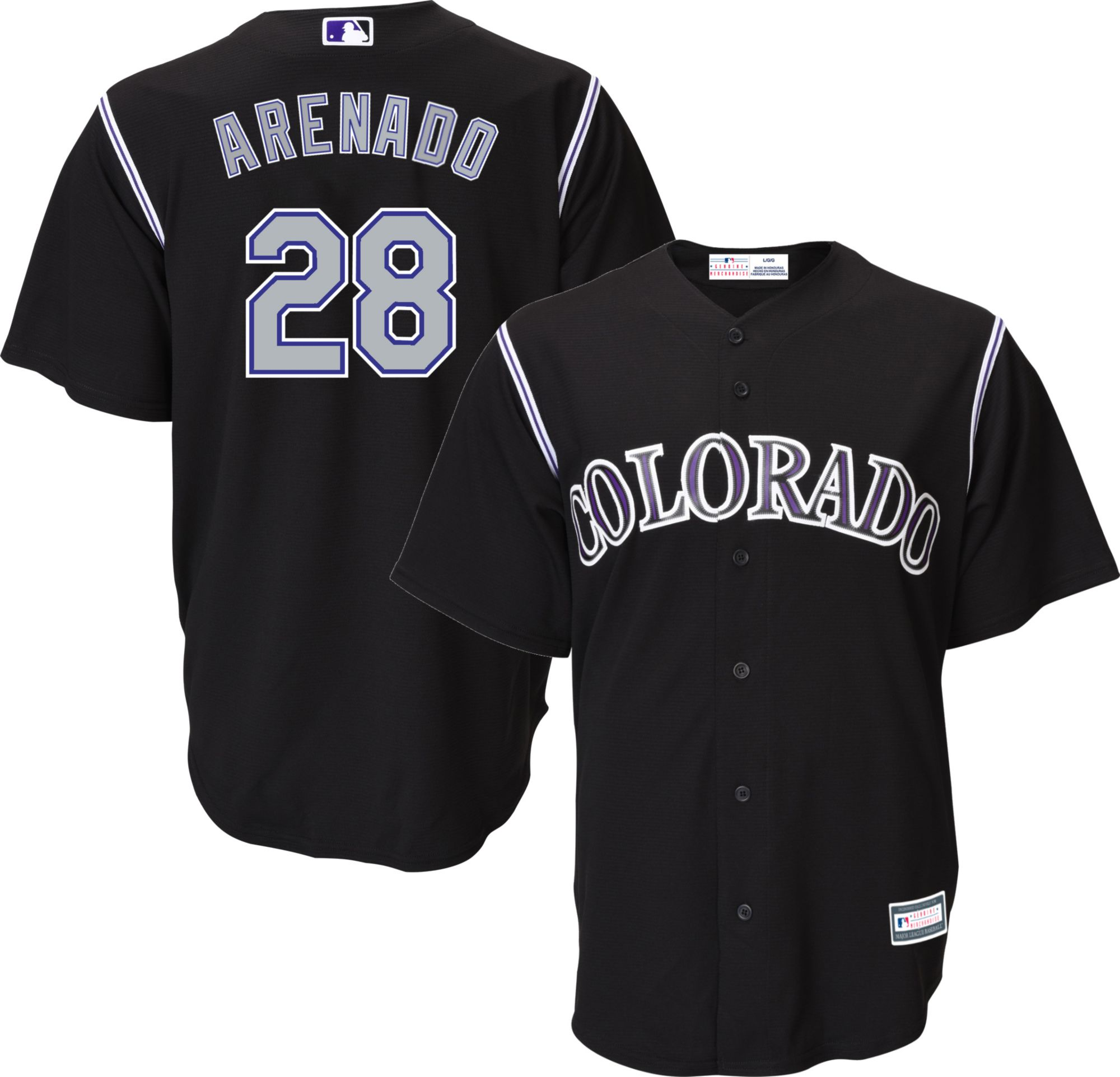 4801f812a best price colorado rockies purple jersey 9c8de aee93  spain youth replica colorado  rockies nolan arenado 28 alternate black jersey 04660 fe9bb