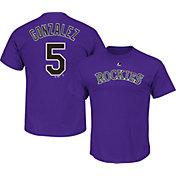 Majestic Youth Colorado Rockies Carlos Gonzalez #5 Purple T-Shirt