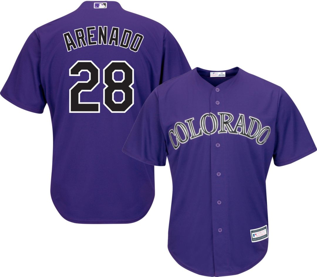 huge discount 23987 c77e7 Youth Replica Colorado Rockies Nolan Arenado #28 Alternate Purple Jersey