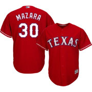 Majestic Youth Replica Texas Rangers Nomar Mazara #30 Cool Base Alternate Red Jersey