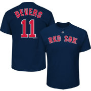 Majestic Youth Boston Red Sox Rafael Devers #11 Navy T-Shirt