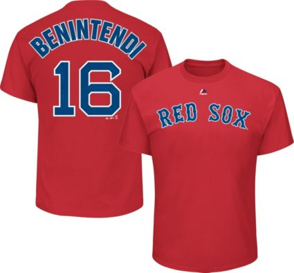 Majestic Youth Boston Red Sox Andrew Benintendi  16 Red T-Shirt ... 5aedf023fd6