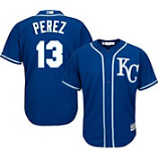 Majestic Youth Replica Kansas City Royals Salvador Perez #13 Cool Base Alternate Royal Jersey