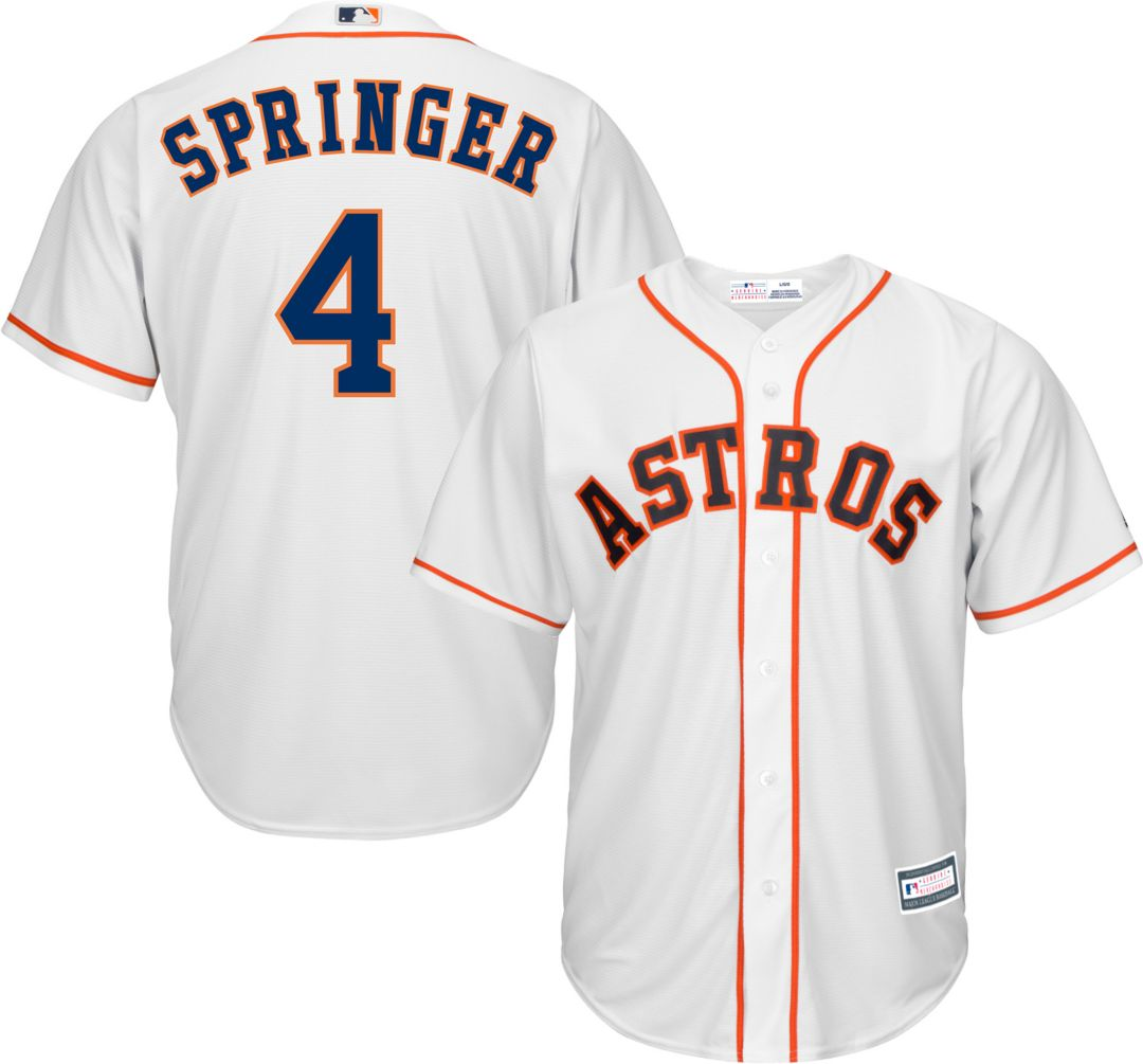info for 0e40f 344b0 Youth Replica Houston Astros George Springer #4 Home White Jersey