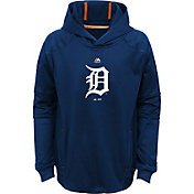 Majestic Youth Detroit Tigers Performance Navy Pullover Hoodie