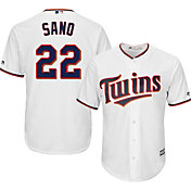 Majestic Youth Replica Minnesota Twins Miguel Sano #22 Cool Base Home White Jersey