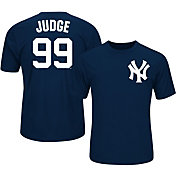 Majestic Youth New York Yankees Aaron Judge #99 Navy Performance T-Shirt