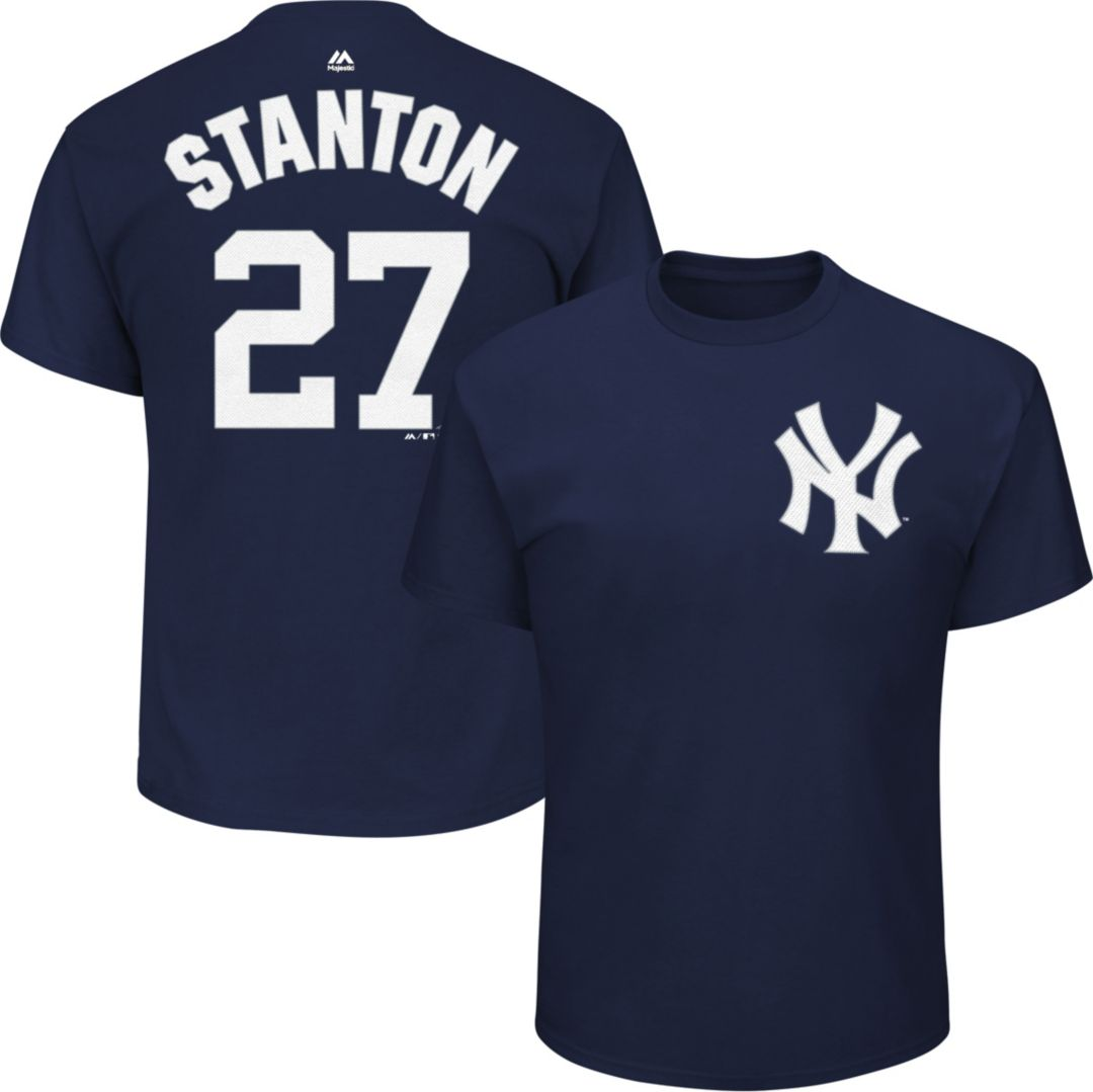 hot sale online 34d70 4845f Majestic Youth New York Yankees Giancarlo Stanton #27 Navy T-Shirt