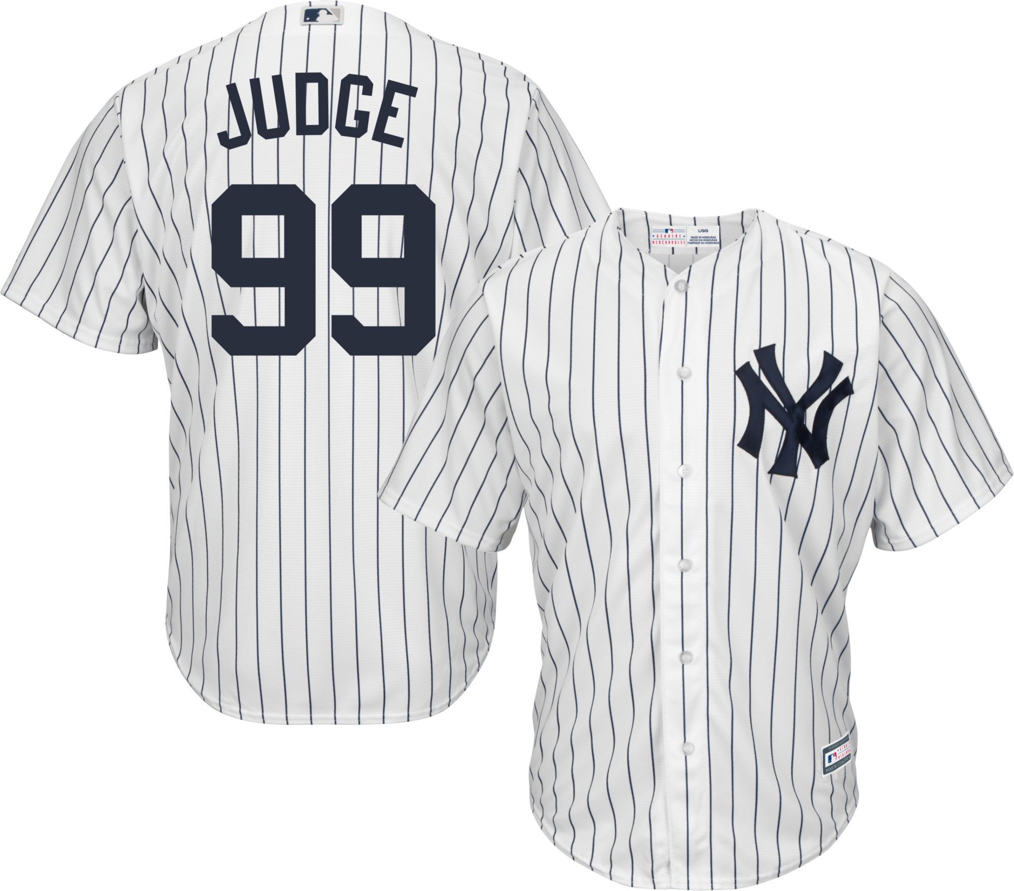 youth replica new york yankees aaron judge 99 home white jersey dick 39 s sporting goods. Black Bedroom Furniture Sets. Home Design Ideas