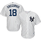 Youth Replica New York Yankees Didi Gregorious #18 Home White Jersey