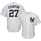 Youth Replica New York Yankees Giancarlo Stanton #27 Home White Jersey