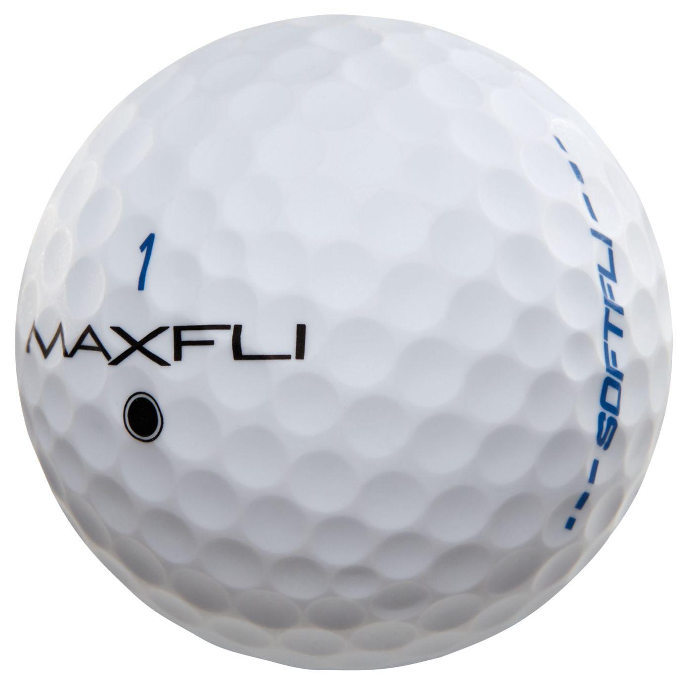 Maxfli SoftFli Matte Golf Balls – White - 12 Pack