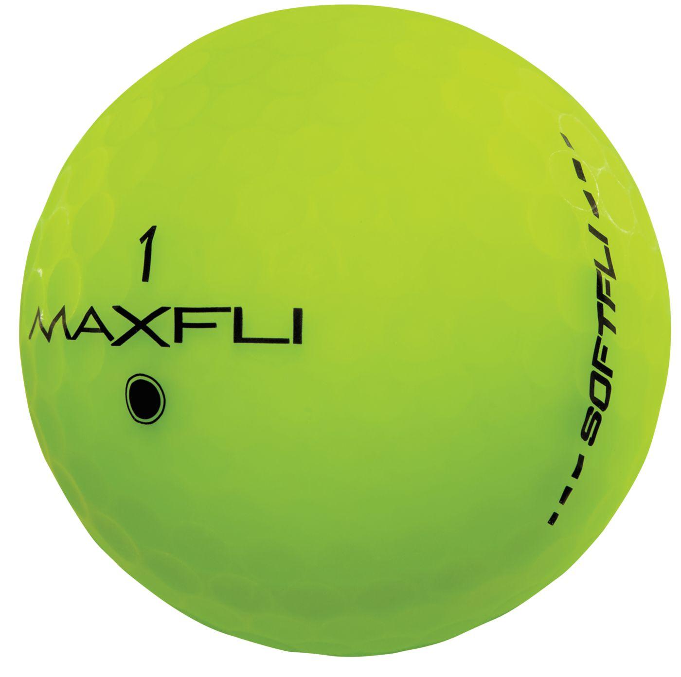 Maxfli SoftFli Matte Golf Balls – Green - 12 Pack