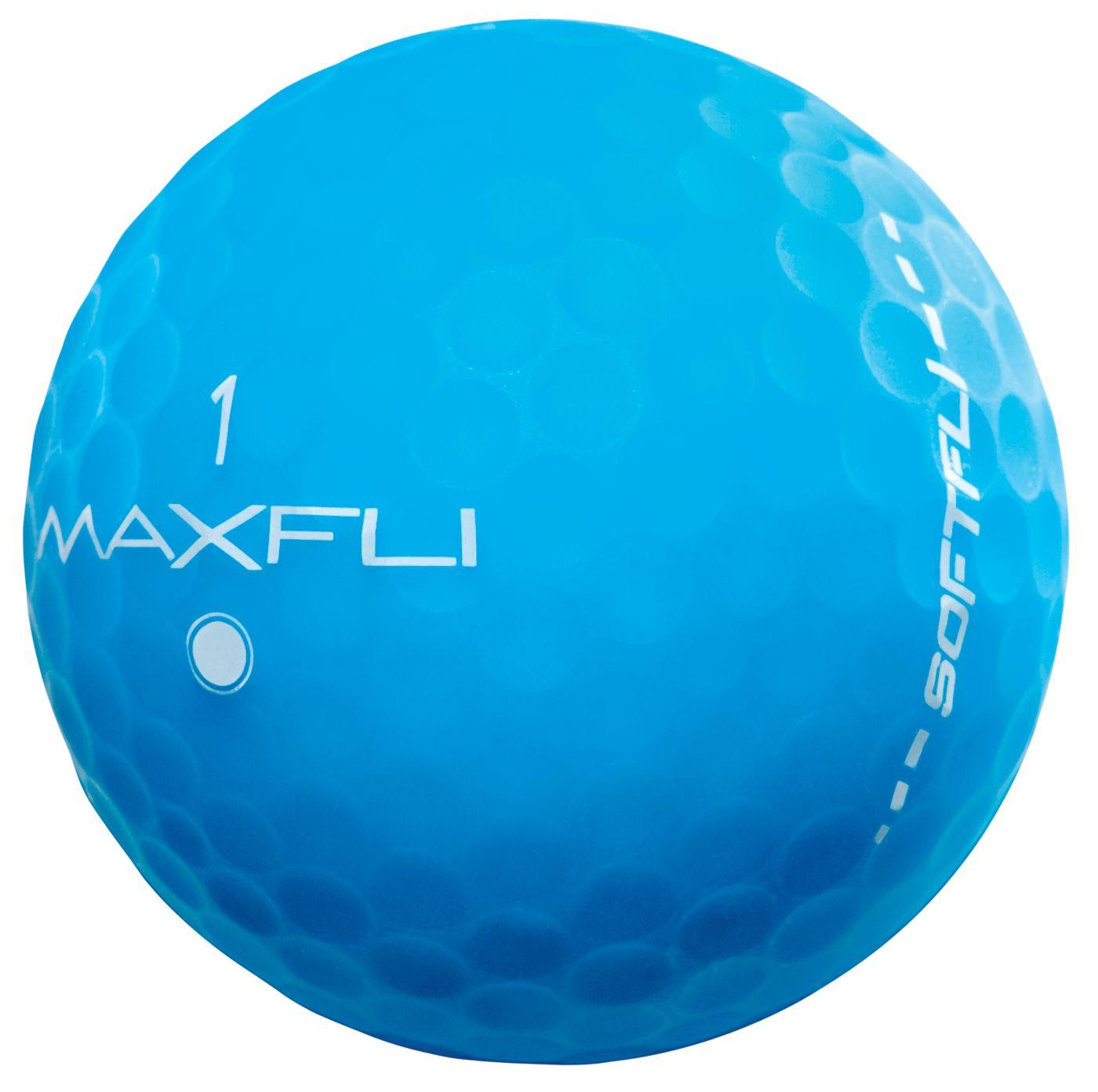 Maxfli SoftFli Matte Golf Balls – Blue - 12 Pack