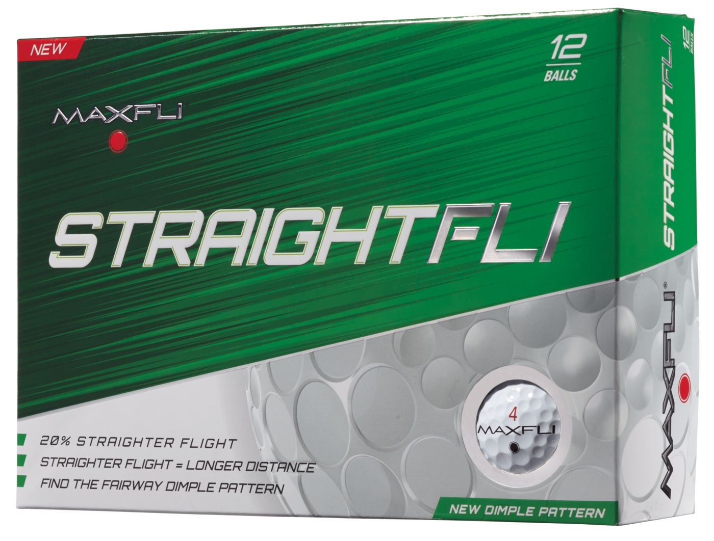 Maxfli StraightFli Golf Balls - 12 Pack