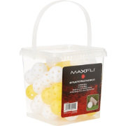 Maxfli Yellow Practice Ball Bucket – 48-Pack