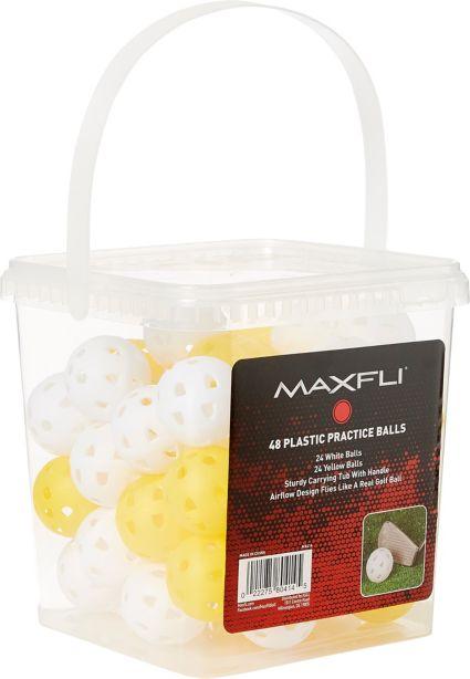 Maxfli Plastic Practice Balls - 48-Ball Bucket