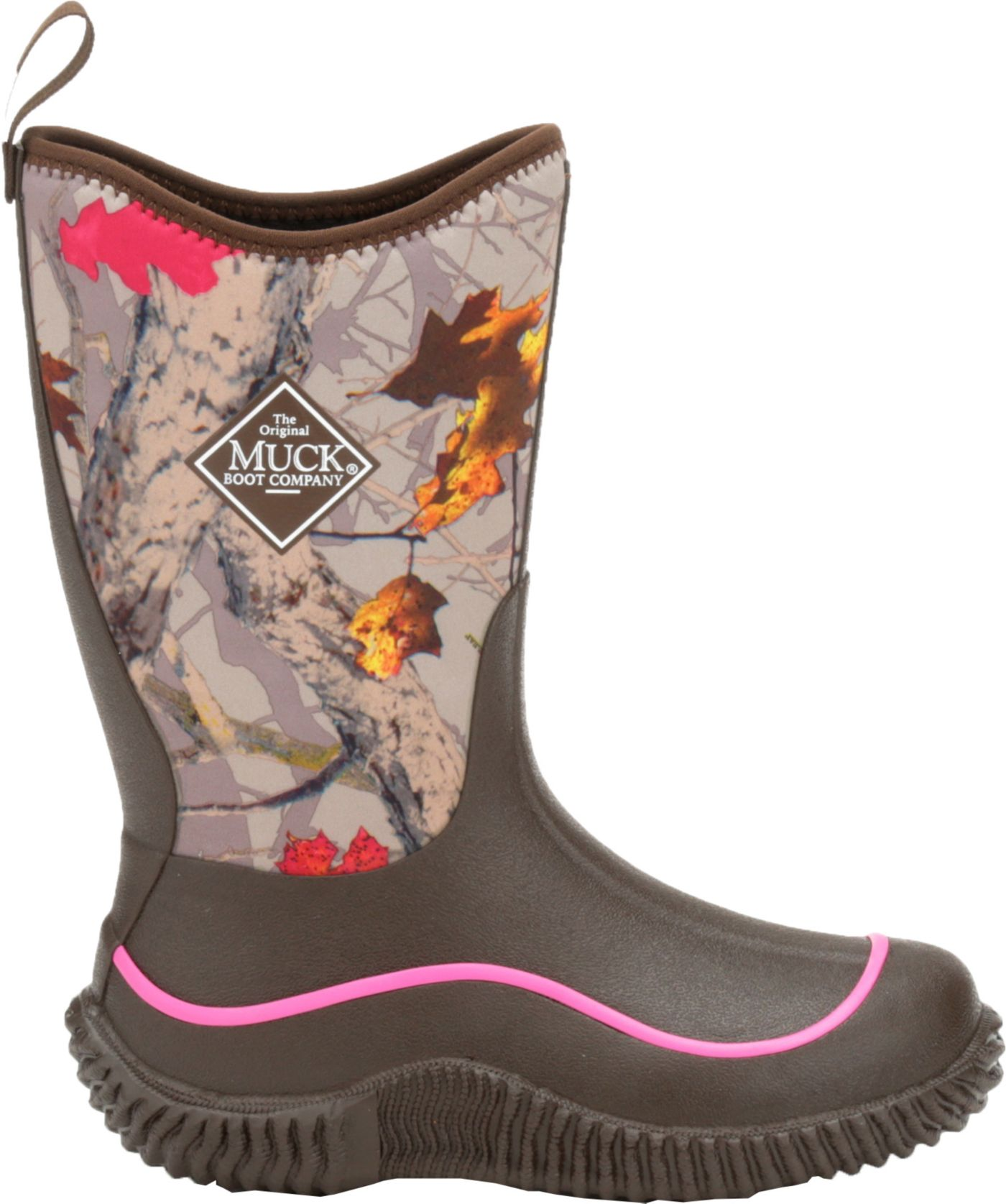 Muck Boots Kids' Hale Hot Leaf Camo Waterproof Winter Boots