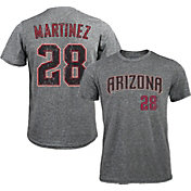 Majestic Threads Men's Arizona Diamondbacks J.D. Martinez #28 Grey Tri-Blend T-Shirt