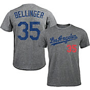Majestic Threads Men's Los Angeles Dodgers Cody Bellinger #35 Grey Tri-Blend T-Shirt