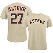 Majestic Threads Men's Houston Astros Jose Altuve #27 White T- Shirt