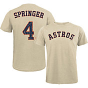 Majestic Threads Men's Houston Astros George Springer #4 White T- Shirt