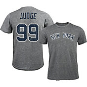 Majestic Threads Men's New York Yankees Aaron Judge #99 Grey Tri-Blend T-Shirt