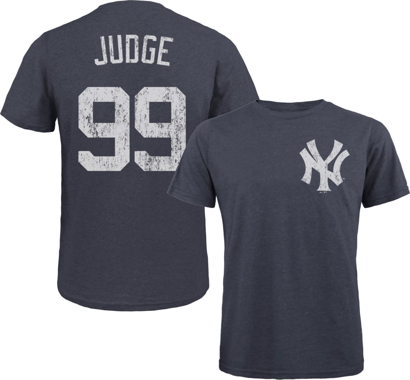 Majestic Threads Men's New York Yankees Aaron Judge Navy T- Shirt