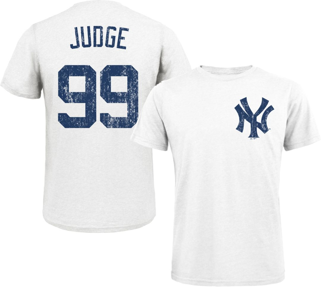 best website 05920 96298 Majestic Threads Men's New York Yankees Aaron Judge White T- Shirt