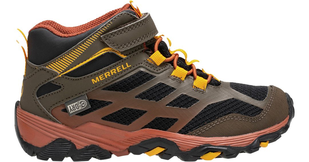 aab81be710f Merrell Kids' Moab FST Mid AC Waterproof Hiking Boots