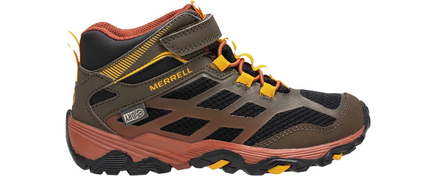 Merrell Kids' Moab FST Mid AC Waterproof Hiking Boots