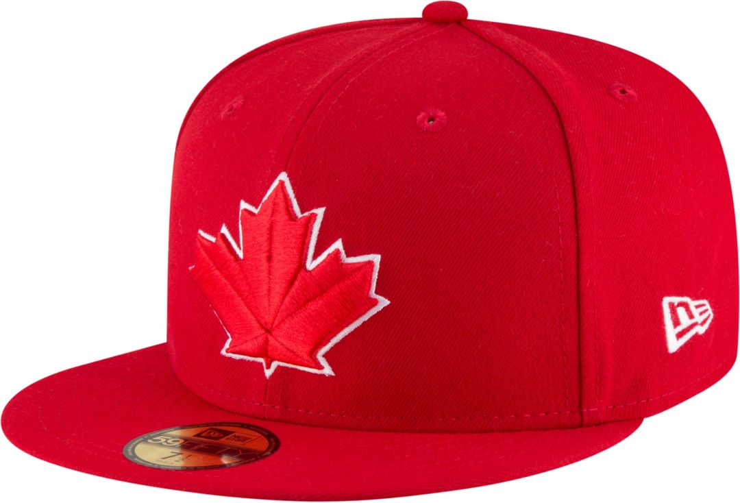 b8c3a4f3 New Era Men's Toronto Blue Jays 59Fifty Alternate Red Authentic Hat ...