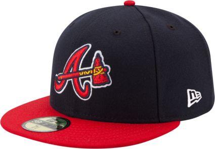 New Era Men's Atlanta Braves 59Fifty Road Navy Authentic Hat