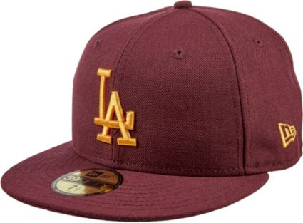 New Era Men s Los Angeles Dodgers 59Fifty City Pride Cardinal Gold Fitted  Hat. noImageFound c8e8d811be31