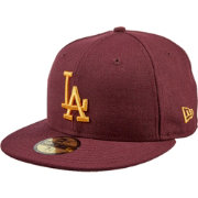 New Era Men s Los Angeles Dodgers 59Fifty City Pride Cardinal Gold Fitted  Hat e85a52084dc