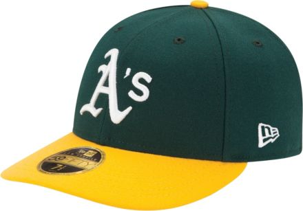2d5a712a193 New Era Men  39 s Oakland Athletics 59Fifty Home Green Low Crown Authentic  Hat