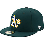 New Era Men's Oakland Athletics 59Fifty Road Green Authentic Hat