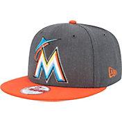 New Era Men's Miami Marlins 9Fifty Grey Adjustable Hat