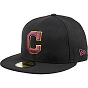 New Era Men's Cleveland Indians 59Fifty City Pride Black/Burgundy Fitted Hat