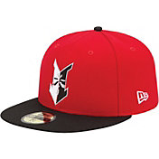 New Era Men's Indianapolis Indians 59Fifty Red/Black Authentic Hat
