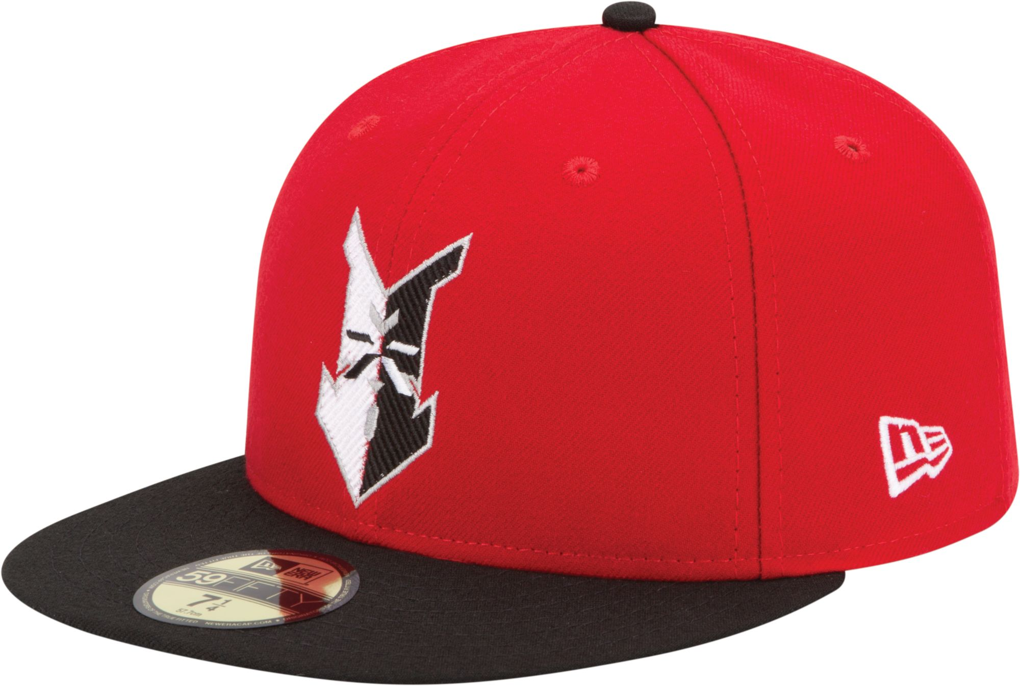 New Era Men's Indianapolis Indians 59Fifty Red/Black Authentic Hat, Size: 7 1/8, Multi